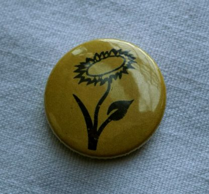 Button – Veganblume (orange)