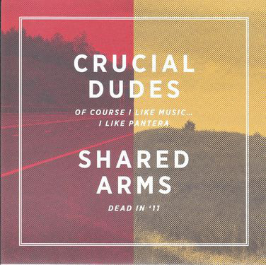 Cover: Crucial Dudes / Shared Arms - Split 7inch