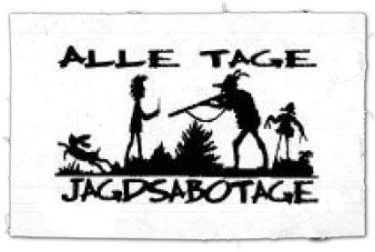 Tanz-auf-Ruinen-Records-Aufnäher-Alle-Tage-Jagdsabotage