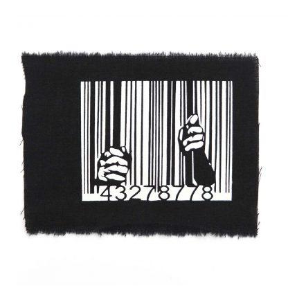 Tanz-auf-Ruinen-Records-Aufnäher-Barcode