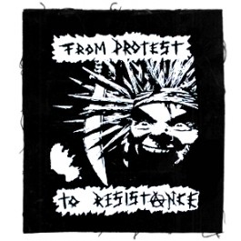 Tanz auf Ruinen Records - Aufnäher - From Protest to Resistance