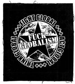 Tanz-auf-Ruinen-Records-Aufnäher-Fuck-Globalism
