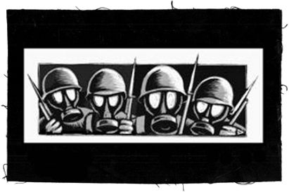 Tanz auf Ruinen Records - Aufnäher - Gasmasks