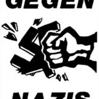 Tanz auf Ruinen Records - Aufnäher - Gegen Nazis weiss