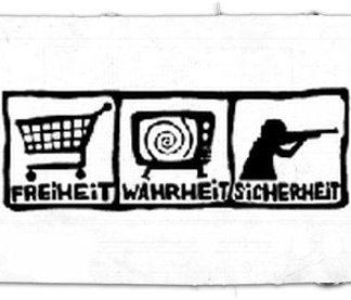 Tanz auf Ruinen Records - Aufnäher - freiheitsicherheitwahrheit1