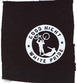 Tanz auf Ruinen Records - Aufnäher - good-night-white-pride-fahrrad