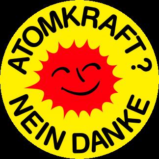 Tanz auf Ruinen Records - Sticker - Atomkraft Nein Danke