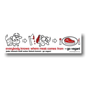 Tanz auf Ruinen Records - Sticker - everybody knows where meat comes from