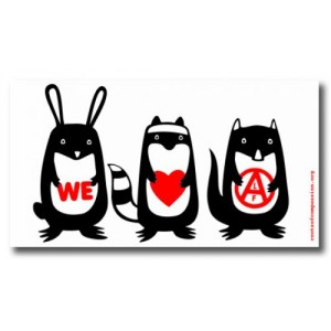 Tanz auf Ruinen Records - Sticker - We love alf