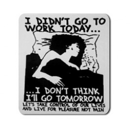 Tanz auf Ruinen Records - Sticker - I didnt go to work today