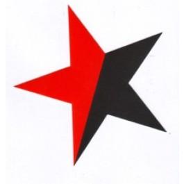 Tanz auf Ruinen Records - Sticker - Stern schwarz rot
